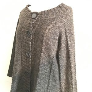 Comfortable Brown Knit Button-Up Cardigan